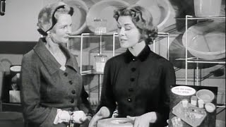 Going Shopping With Elizabeth Allan - Harrods (1955) | BFI National Archive