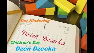 Z życzeniami na Dzień Dziecka