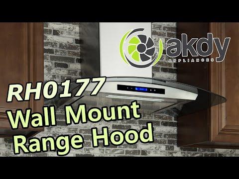 AKDY Wall Mount Range Hood: Model RH0177 [Product Showcase]