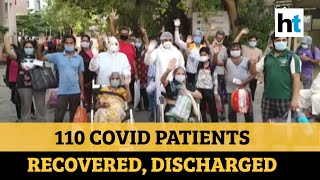 Watch: Indore hospital showers petals on patients after recovering from covid-19