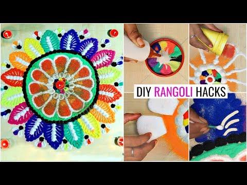 DIY Rangoli HACKS For Festive Season...  #Rangolidesign #colours #Anaysa #DIYQueen
