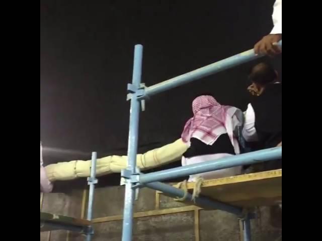 رفع ستارة الكعبة المشرفة استعداداً لموسم حج هذا العام
