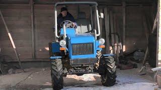 Самодельный полноприводный трактор 4x4. Обзор