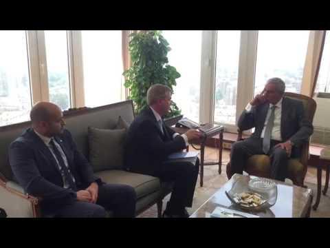 لقاء الوزير/طارق قابيل بالرئيس الجديد للغرفة العربية الالمانية للصناعة والتجارة