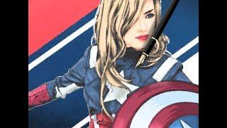 Re-Creating Captain America Girl Version In Vector Style Adobe Photoshop CS6