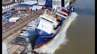 Launch of the Symphony Spirit at Ferus Smit shipyard (Leer, Germany)