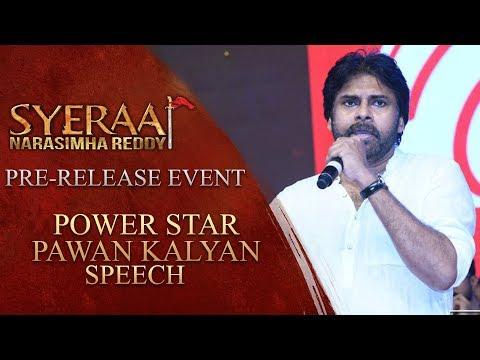 Power Star Pawan Kalyan Speech - Sye Raa Narasimha Reddy Pre Release Event