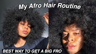 MY BIG AFRO HAIR ROUTINE ON 3C/4A NATURAL HAIR ✨