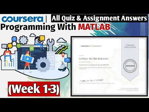 Introduction to Programming with MATLAB  Coursera Free Certification