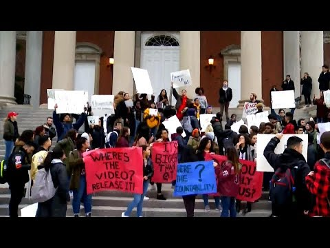 Syracuse University students protest