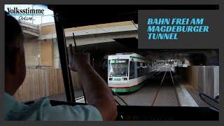 Straßenbahnfahrt am Tunnel
