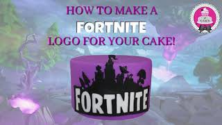How to make a Fortnite logo for your cake!