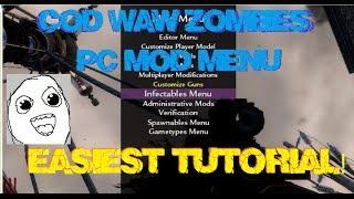 COD WAW Zombies MOD MENU EASIEST TUTORIAL + DOWNLOAD (PC)