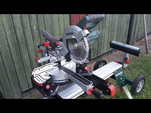 Test Kap och Gersåg - Review Mitre saw Metabo KGS 216 + stand KSU 251,  (eng. subtitles)