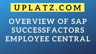 SAP SuccessFactors (Employee Central) Training