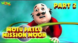 Motu Patlu Mission Moon - Movie - Part 2 | Movie Mania - 1 Movie Everyday | Wowkidz