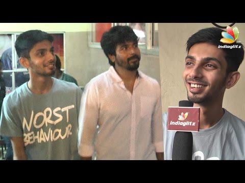 Anirudh-Sivakarthikeyan-at-Remo-FDFS-Kasi-Theatre--Senjitaley-was-a-mass-hit-Interview