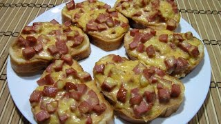 Горячие бутерброды с колбасой и сыром за 20 минут!!! Быстро, очень вкусно и сытно.