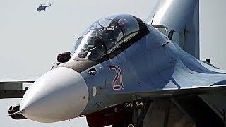 Изящный взлёт Су 30СМ на форсаже 🔥 Авиадартс 2018
