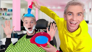 TRANSFORMING BEST FRIEND into TWIN BROTHER!! (Face Reveal to Prank Mystery Neighbor)