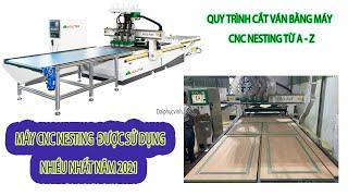Máy cnc nesting 4 đầu làm việc như thế nào? Quy trình cắt ván bằng máy cnc Holztek PRO-R4F