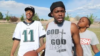 GHETTO QUARTERBACK CHALLENGE BEHIND THE SCENES! | Daily Dose S2Ep207
