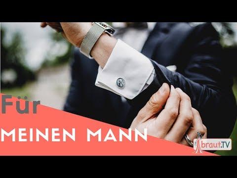 Morgengabe | Geschenk für den Bräutigam | Personalisierte Manschettenknöpfe | braut.TV