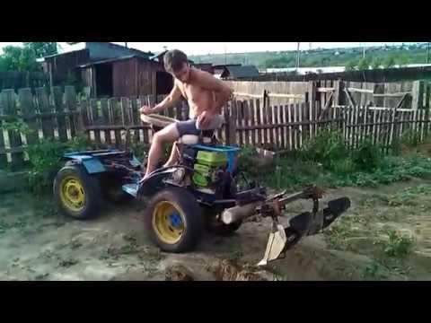 20170627мини трактор с нивы мб 2  переломка акучиваем картофель