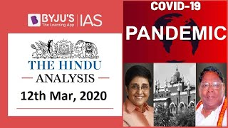 'The Hindu' Analysis for 12th March, 2020. (Current Affairs for UPSC/IAS)