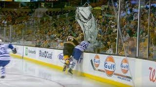 10 лучших моментов с заградительными стёклами в НХЛ