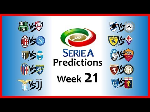 2018-19 SERIE A PREDICTIONS - WEEK 21