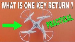 What Is One Key Return In Drone   One Key Return Drone Test In Hindi Urdu