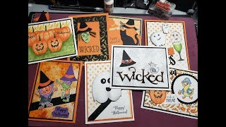 Halloween Cards With Techniques,  Stampin Up