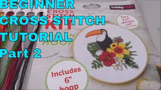 Beginner Cross Stitch Tutorial (CC) Part 2 Lets Stitch !