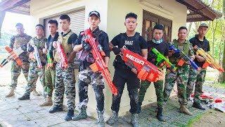 LTT Nerf War : Captain SEAL X Warriors Nerf Guns Fight Criminal Group Rescue Alliance Swat