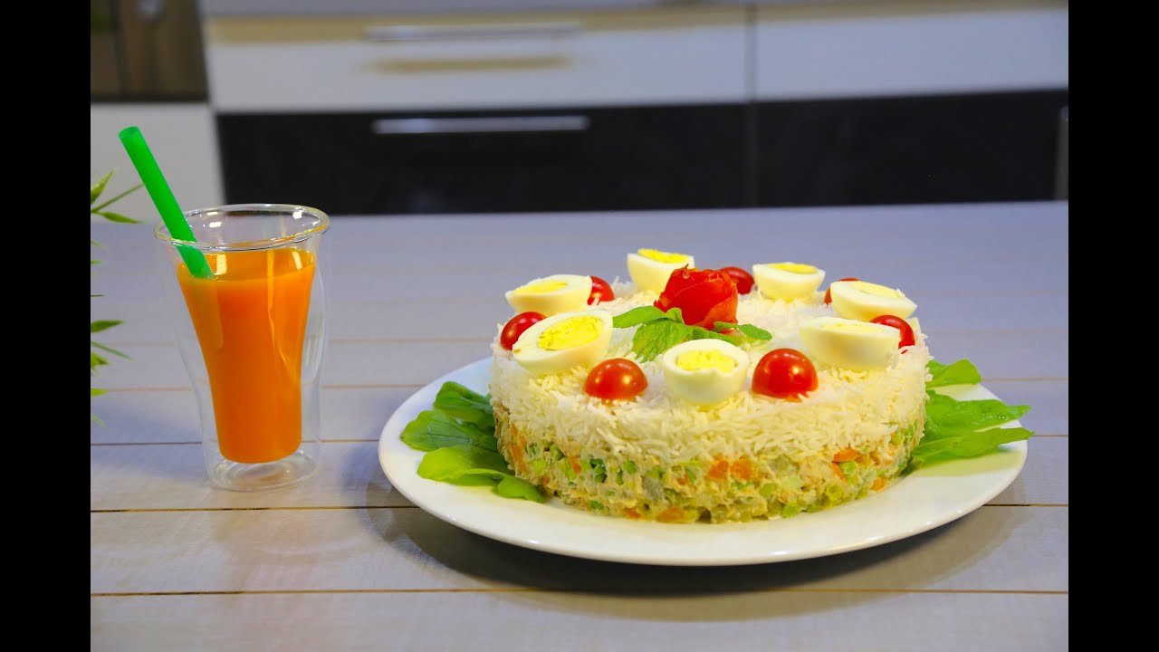 Russian Salad with Rice