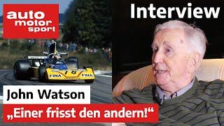 Formel Schmidt Interview Mit John Watson   Auto Motor Und Sport