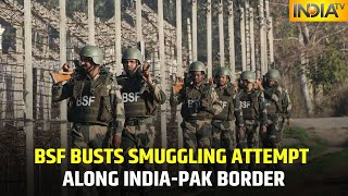 BSF Busts Smuggling Attempt Along India-Pakistan Border, Seizes Three AK-47 And Two M-16 Rifles - Download this Video in MP3, M4A, WEBM, MP4, 3GP