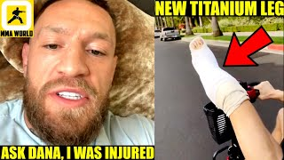 Conor McGregor leaves hospital and confirms he fought Dustin Poirier with a DAMAGED LEG, Khabib