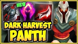 PANTH 100% CRIT PASSIVE + NEW DARK HARVEST IS 100% TOO OP! PANTHEON SEASON 9!   League Of Legends