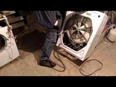 Ремонтируем #стиральную машину #Индезит Indesit WIL102. Замена подшипников часть 1