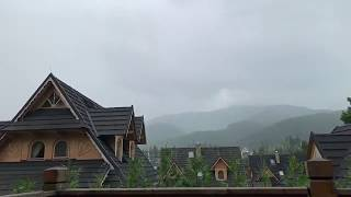 Zakopane ogromna burza i pioruny -  Zakopane thunderstorm