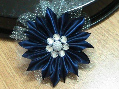 Flor Fita Azul