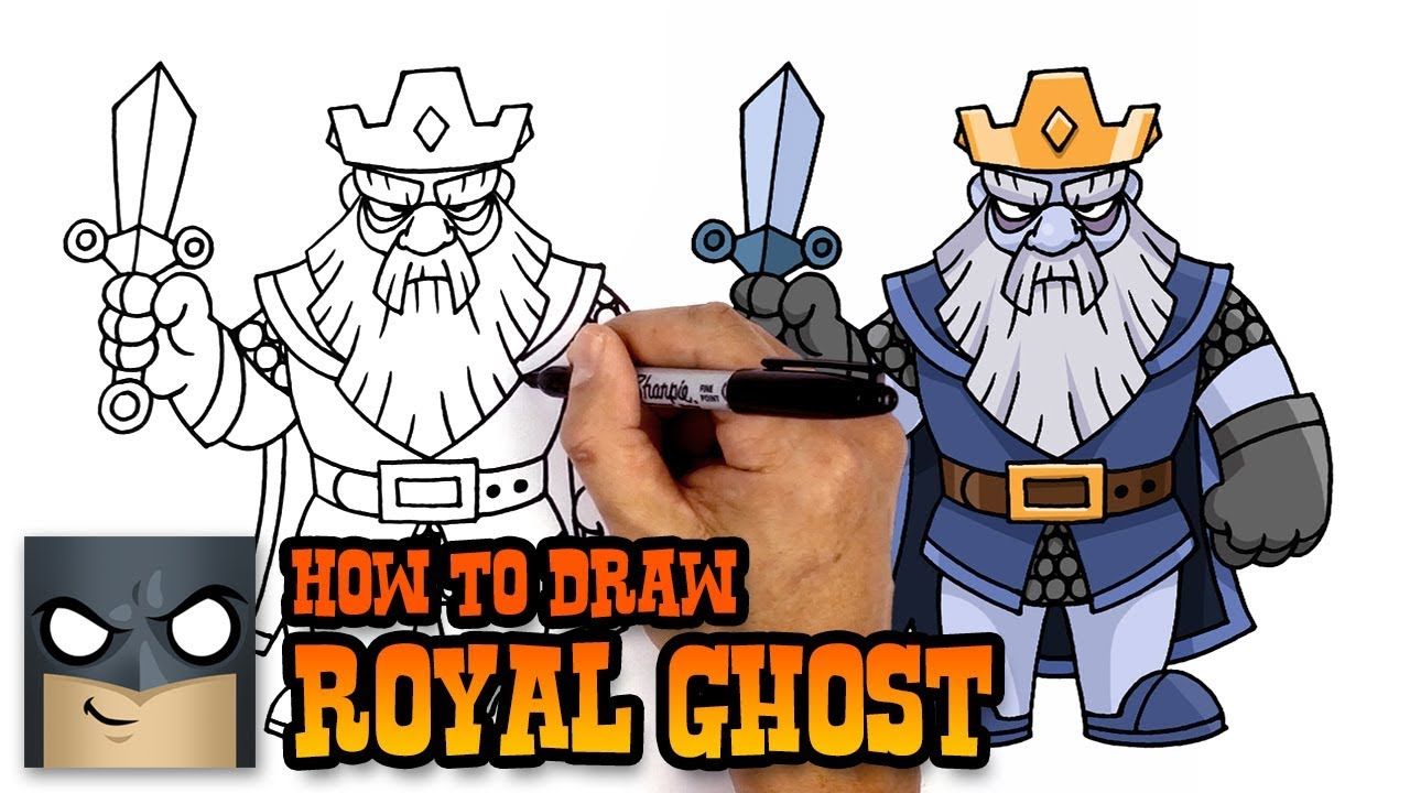 how to draw clash royale royal ghost em mp3