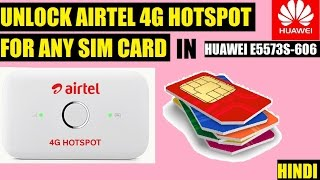 Unlock Airtel 4g Hotspot for Any Sim Card(4g/3g/2g) Huawei e5573s-660 | Techno authority | HINDI