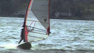 preview picture of video 'Canandaigua Lake Windsurfing January 1, 2012'