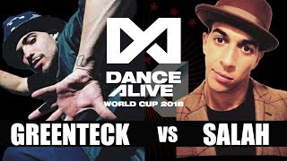 GREENTECK(Canada) vs SALAH(France) SEMI FINAL / DANCE ALIVE WORLD CUP 2018