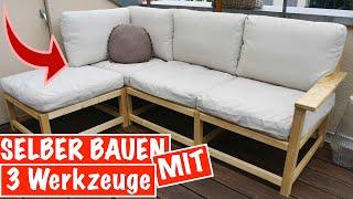 Sitzecke selber bauen für den Garten mit NUR 3 Werkzeugen - Das kann JEDER | MrHandwerk