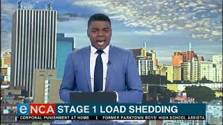 Eskom Implements Stage 1 Load Shedding