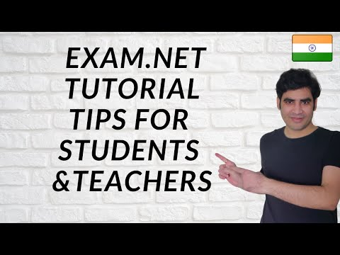 Exam.net Tutorial for Teachers and Students |How to use exam net ...